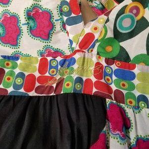 Desigual Dresses - Desigual Multi Patterned Deep V-Neck Mini Dress